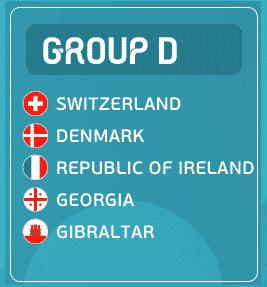 Teilnehmer der EM Quali Gruppe D