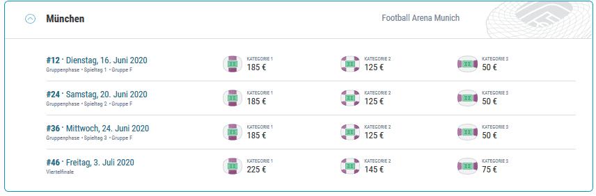 Em Tickets Preise