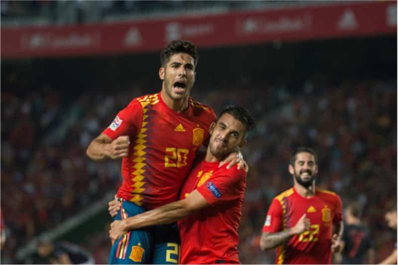 Der Spanier Marco Asensio ist einer der Stars der spanischen Nationalmannschaft - hier bei der Fußball WM 2018. (Photo: Shutterstock)