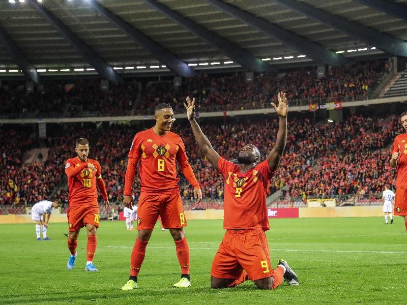Belgien ist im November 2020 die Nummer 1 der Welt in der FIFA Weltrangliste.(Photo by BRUNO FAHY / BELGA / AFP)