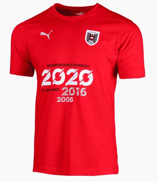 """Puma Herren Österreich Qualifier Shirt """"Mia san dabei"""": für Herren mit einem klaren Ziel - EM 2020 wir kommen!"""