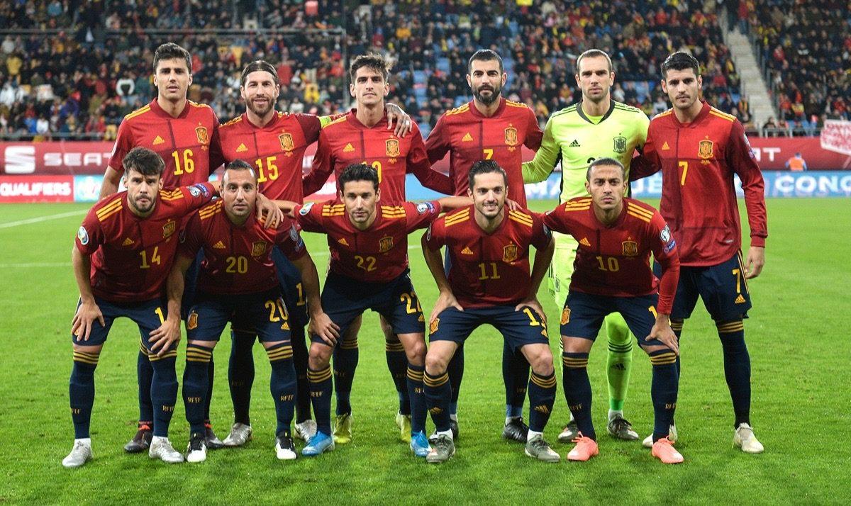 Spaniens Nationalmannschaft ist die Nummer 1 nach der UEFA Setzliste! (Photo by CRISTINA QUICLER / AFP)