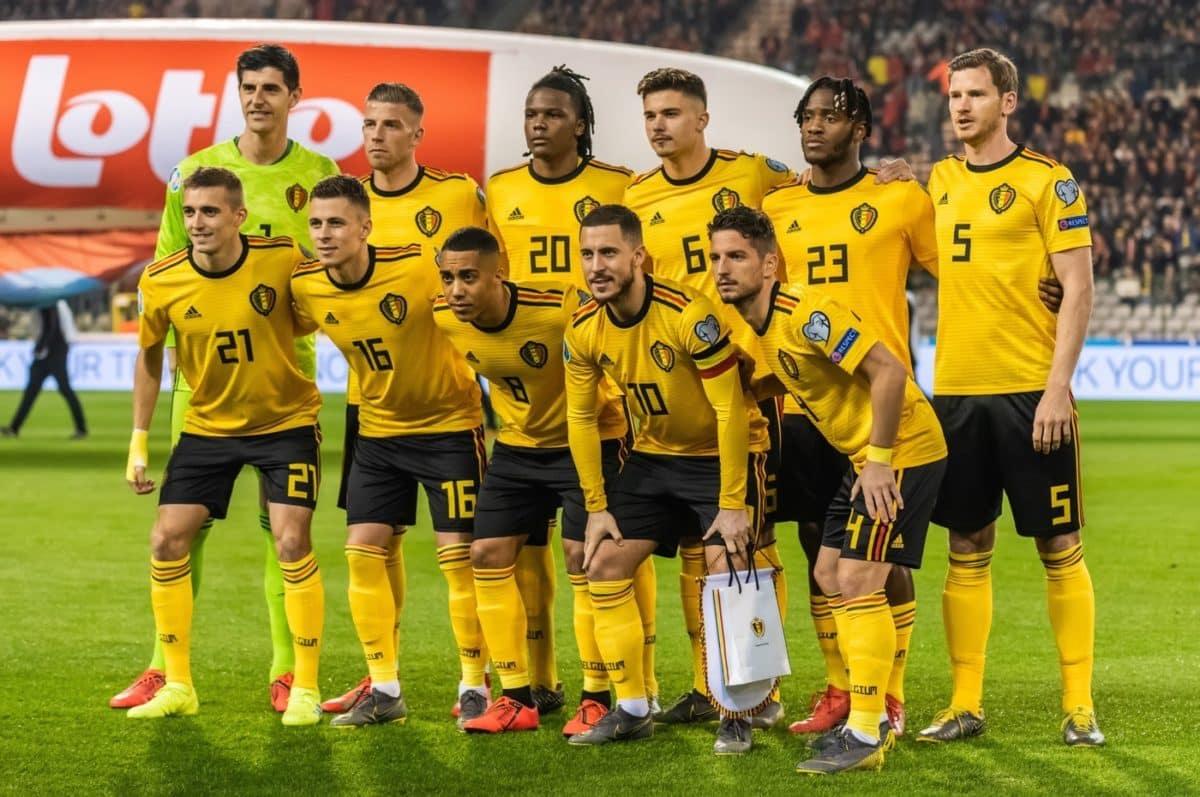 Die belgische Nationalmannschaft am 21.März 2019 gegen Russland in der EM Qualifikation. (Foto Shutterstock)