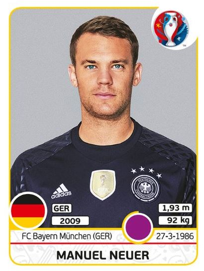 Manuel Neuer als Nummer1 im deutschen Tor und deutscher DFB-Kapitän wird sicherlich im neuen Panini Heft 2020 dabei sein.