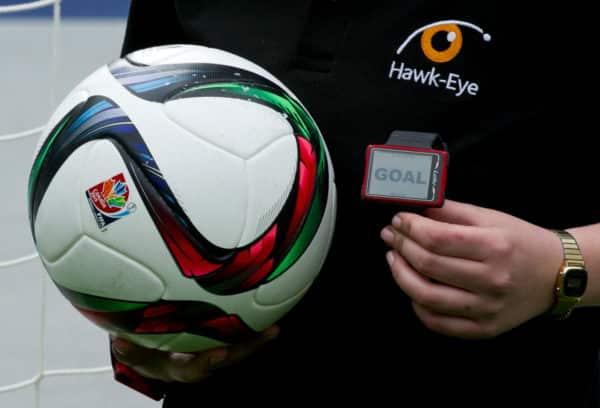 Das System des Hawk-Eye wurde 2015 in der Bundesliga eingeführt, zur EM 2020 wird es auch wieder benutzt. AFP PHOTO / JOHN